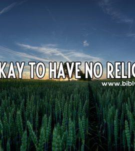 เราอยู่โดยไม่มีศาสนาได้หรือไม่ ?